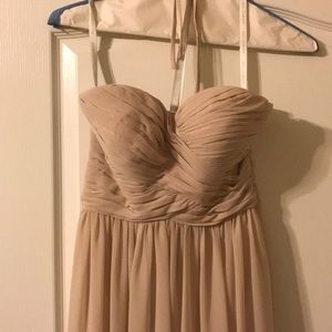 Dresses & Skirts - Champagne strapless gown